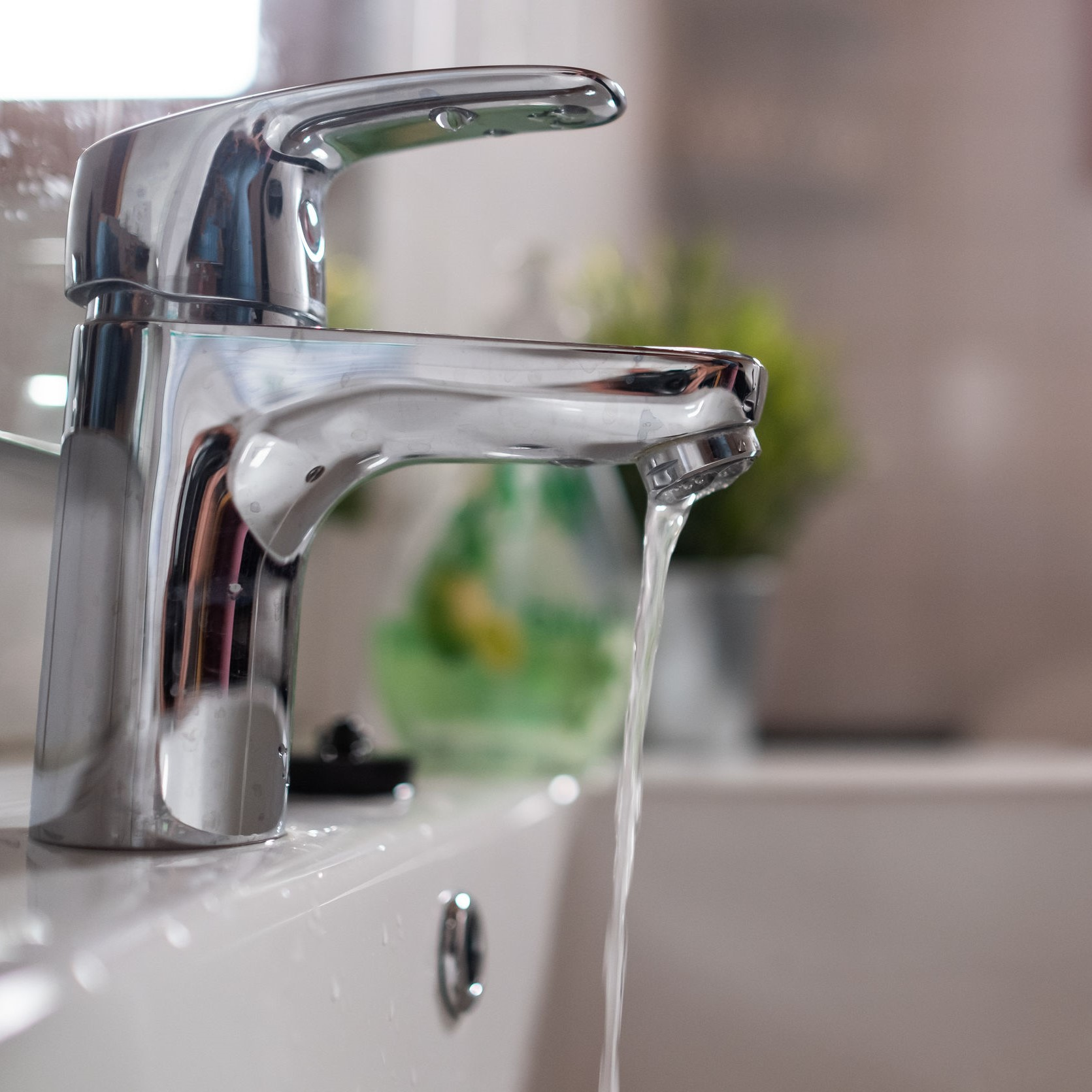 A sink faucet with low water pressure.