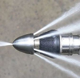 close up of hydro jet nozzle